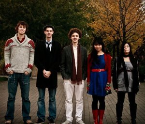 left to right: Luke Fraser,Evan Peter Hodgson Stewart, Noam Bierstone, Sarah Frank and Anh Phung . Photo by Marshall Gayman