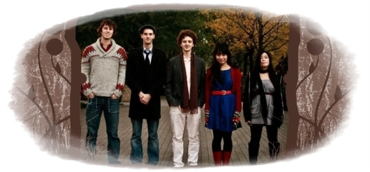 The Bombadils:Luke Fraser,Evan Peter Hodgson Stewart, Noam Bierstone, Sarah Frank and Anh Phung . Photo by Marshall Gayman