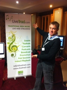 Mike(Micheál Ó Domhnaill) at Livetrad stand AOIFE conference