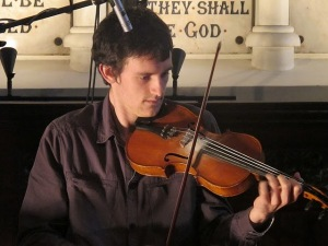 Donal McCague (fiddle): Sep 20, 2011 Unitarian Church, Dublin( with Dave Sheridan (flute) and Michael McCague (bouzouki)