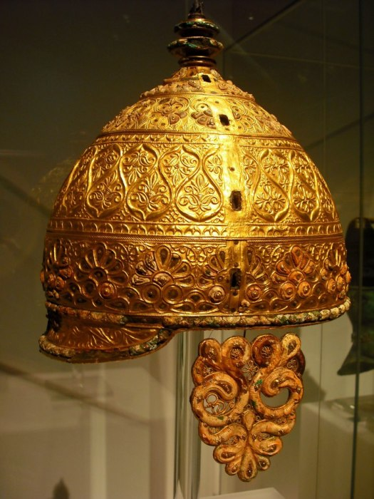 Celtic Helmet, 4th Century BC, Found at Agris Charante, France.