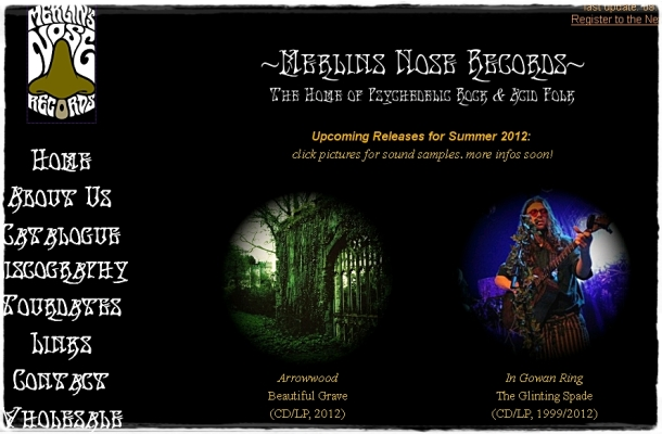 Merlin's Nose records giving you ambient, pagan folk and other interesting releases