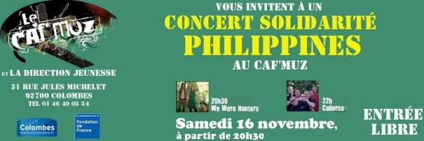Celtic Music Concert in France  for the Victims of typhoon Haiyan/Yolanda in thePhilippines