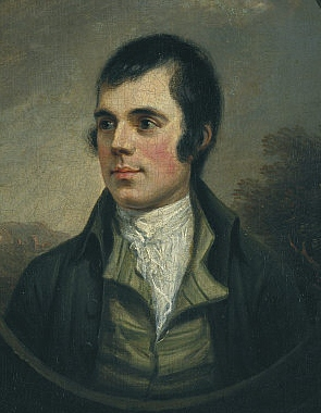 The best-known portrait of Burns,  by Alexander Nasmyth, 1787