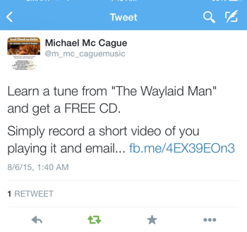"Learn a tune from ""The Waylaid Man"" and get a FREE CD."